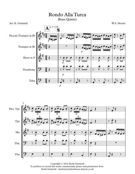 Rondo Alla Turca: Brass Quintet