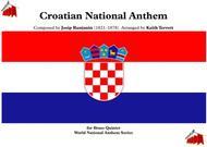 Croatian National Anthem (Our Beautiful Homeland - Lijepa naša domovino) for Brass Quintet (MFAO World National Anthem Series)