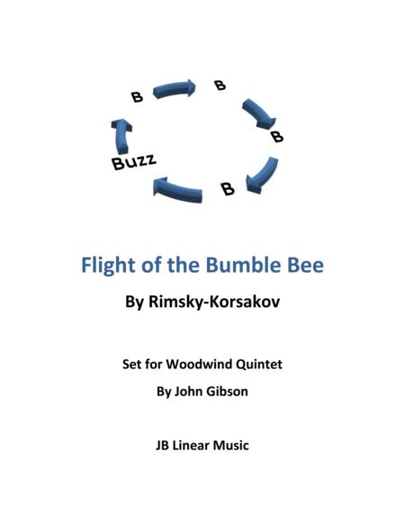 Flight of the Bumble Bee set for Woodwind Quintet