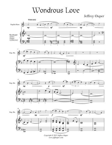 Wondrous Love (for English Horn)