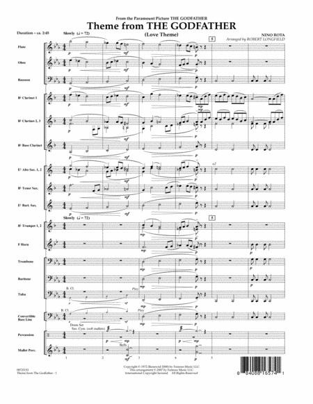 Theme From The Godfather - Full Score