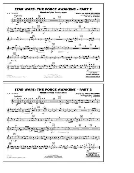 Star Wars: The Force Awakens - Part 2 - 1st Bb Trumpet