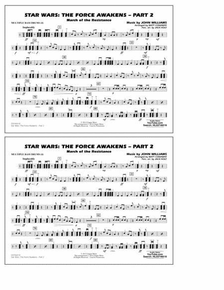 Star Wars: The Force Awakens - Part 2 - Multiple Bass Drums