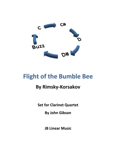 Flight of the Bumble Bee for clarinet quartet