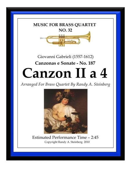 Canzon II a 4 - No. 187