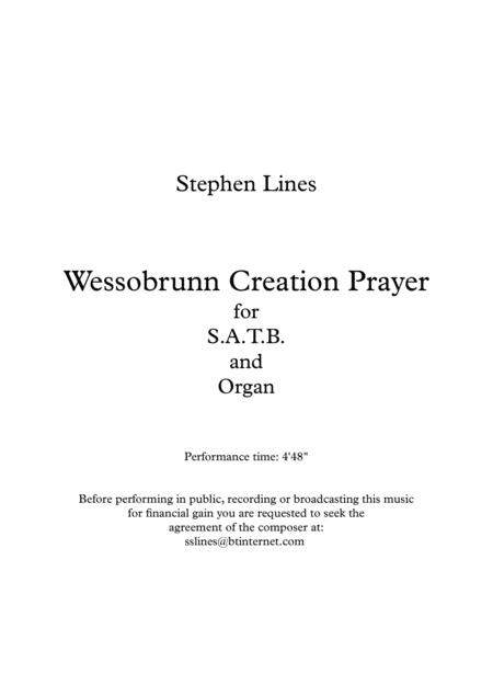 Wessobrunn Creation Prayer