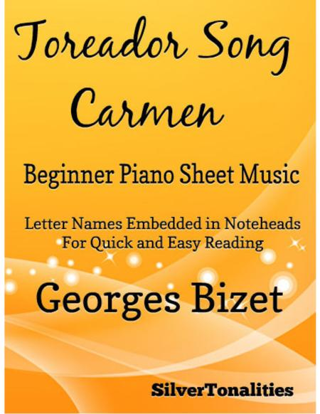 Toreador Song Beginner Piano Sheet Music