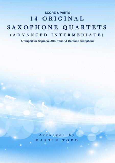 14 Original Saxophone Quartets - Score & Parts (SATB)
