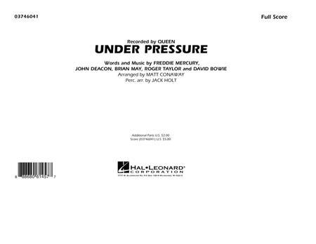 Under Pressure - Conductor Score (Full Score)