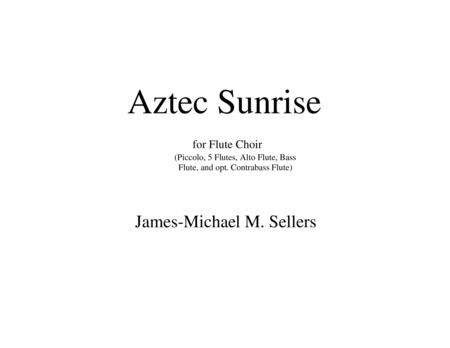 Aztec Sunrise (for Flute Choir)