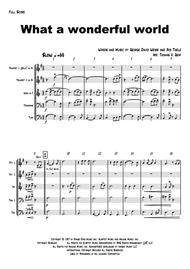 What a wonderful world - Louis Armstrong - Brass Quintet