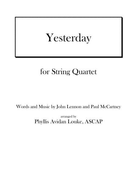 Yesterday by Lennon & McCartney for String Quartet