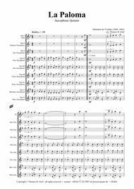 La Paloma - Spanish Habanera - Saxophone Quintet