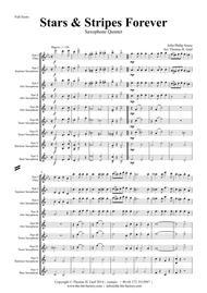 Stars and Stripes forever - Sousa - Saxophone Quintet