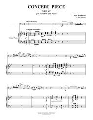 Warnecke - Concert Piece, Opus 28 for Trombone & Piano