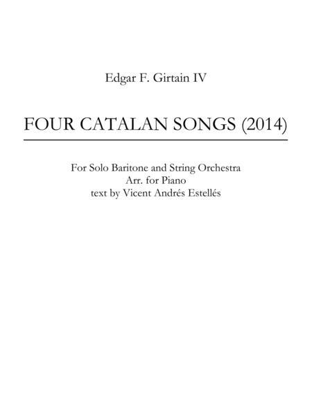 Four Catalan Songs
