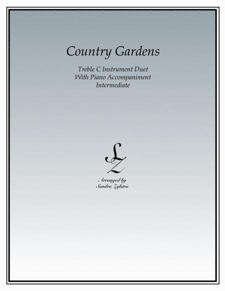 Country Gardens (treble C instrument duet)