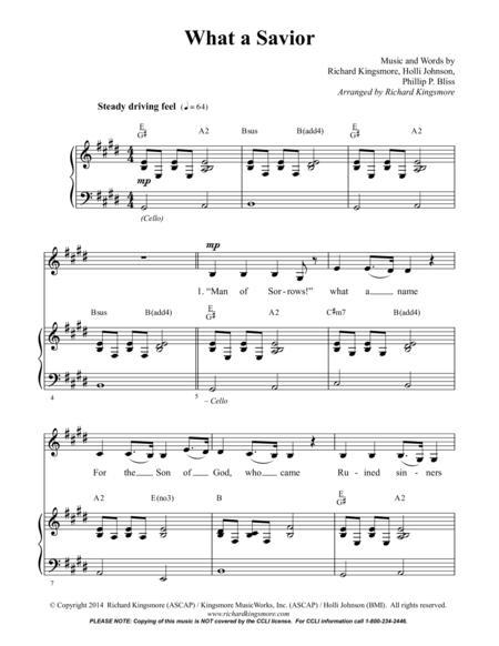 What a Savior (Vocal/Piano)