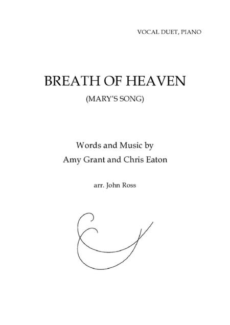 Breath of Heaven (Mary's Song) - Vocal duet