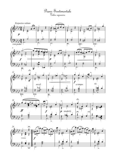 Piano Sentimentale Valse romantico