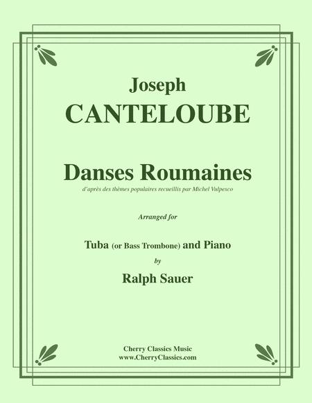 Danses Roumaines for Tuba or Bass Trombone & Piano