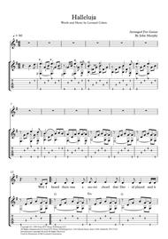 Halleluja For Fingerstyle Guitar/ Voice/ Lyrics, Tab and Chords