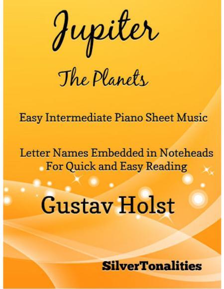 Jupiter the Planets Easy Intermediate Piano Sheet Music