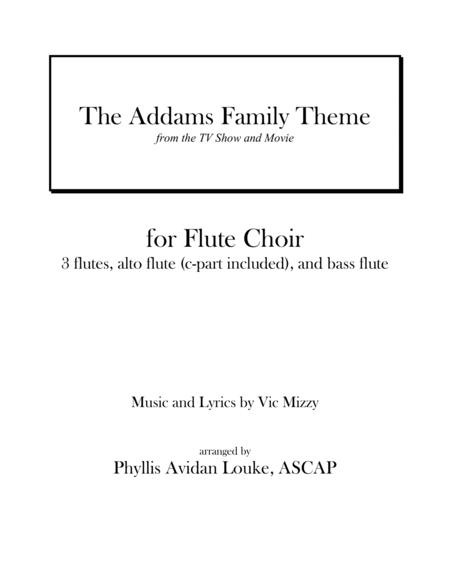 The Addams Family Theme for Flute Choir or Quintet