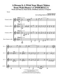 A Dream Is A Wish Your Heart Makes from Walt Disney's CINDERELLA for Clarinet Quartet