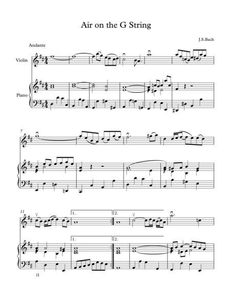 Download Air On The G String (Violin And Piano) Sheet Music By ...