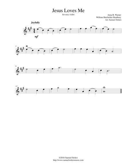 Jesus loves me easy piano sheet music free