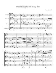 For String Quartet and Piano: Mozart's 23rd Piano Concerto, K. 488 - 1st Movement