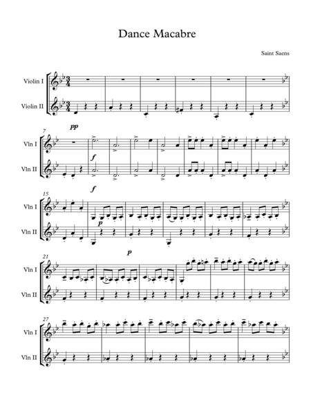 Dance Macabre for two Violin (easy)
