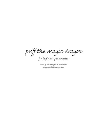 Puff the Magic Dragon for 1 piano 4 hands (beginner)