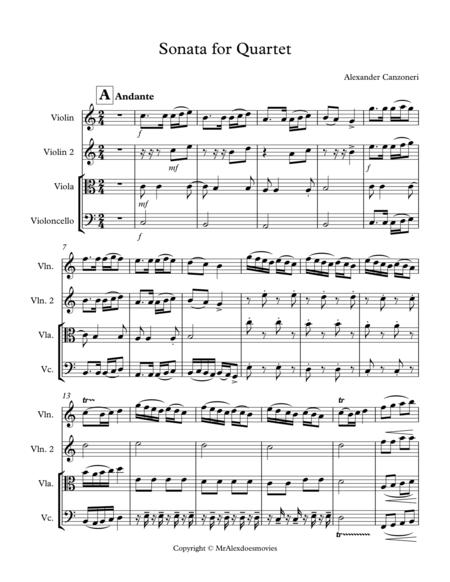 2016 Chamber Music Contest Entry: Sonata For Quartet