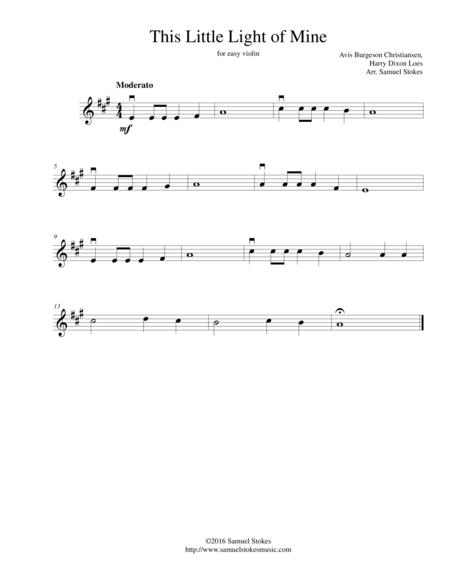 Download This Little Light Of Mine - For Easy Violin Sheet Music By ...