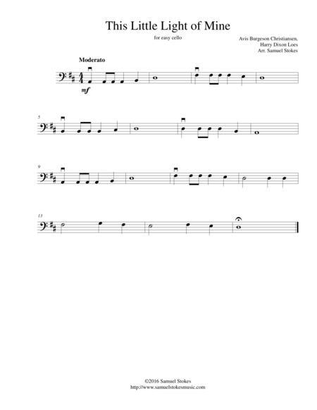 This Little Light of Mine - for easy cello