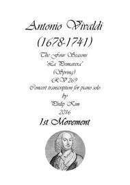 'Spring' (1st movement) from The Four Seasons by Vivaldi for Piano Solo