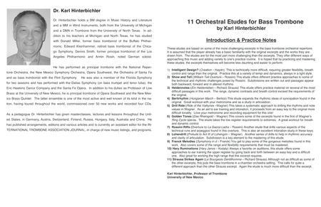 HInterbichler - 11 Orchestral Etudes for Bass Trombone