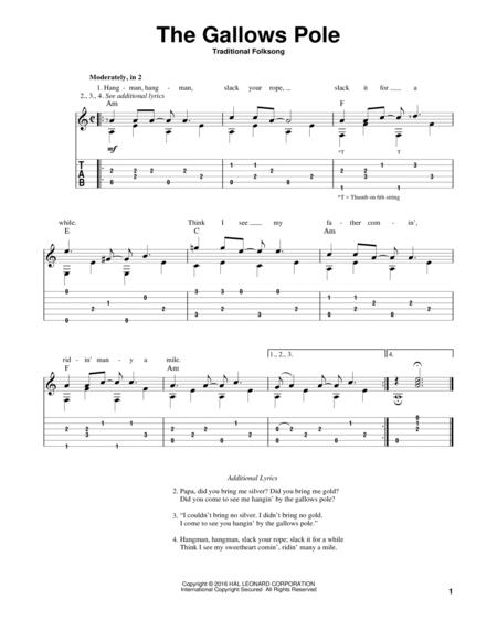 Download The Gallows Pole Sheet Music By Folk Song Sheet Music Plus