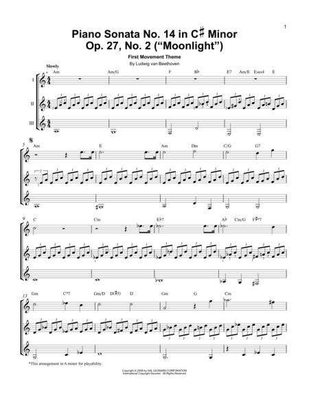 Piano Sonata No. 14 In C# Minor (Moonlight) Op. 27 No. 2 First Movement Theme