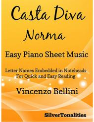 Casta Diva Easy Piano Sheet Music
