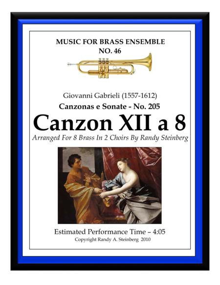 Canzon XII a 8 - No. 205