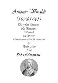 'Spring' (3rd movement) from The Four Seasons by Vivaldi for Piano Solo