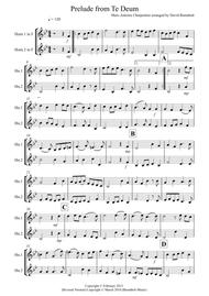 Prelude From Te Deum for French Horn Duet