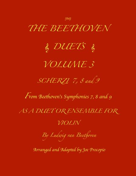 THE BEETHOVEN DUETS FOR VIOLIN VOLUME 3 SCHERZI 7, 8 and 9