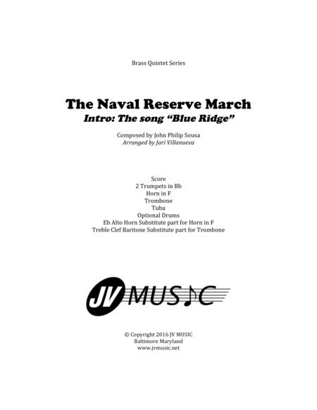 The Naval Reserve March for Brass Quintet and optional drums