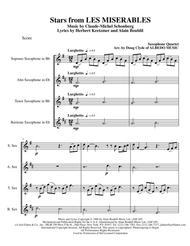 Stars from LES MISERABLES for Saxophone Quartet