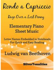 Rage Over a Lost Penny Elementary Piano Sheet Music
