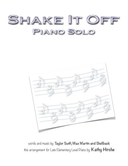 Shake It Off - Piano Solo
